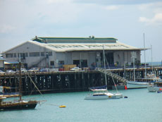 Darwin Wharf  in Darwin city a must see sightseeing of things to do in Darwin